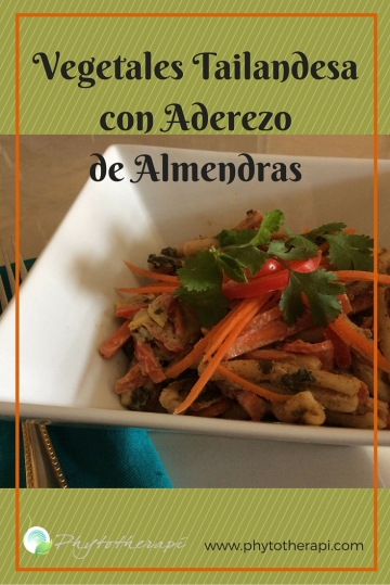 Thai Vegetables with Almond Dressing-SPANISH