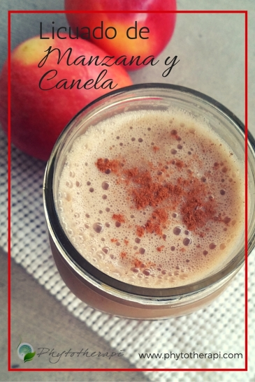 Apple-Cinnamon Smoothie-SPANISH