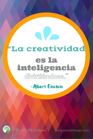 Creativity is intelligence having fun-PIN-SPANISH