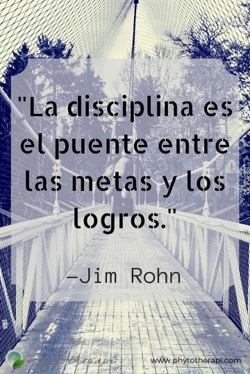 Discipline is the bridge between goals-Pin Spanish