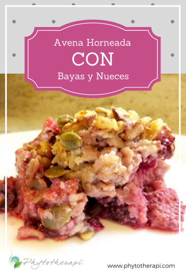 Baked Berry and Nut Oatmeal-SPANISH