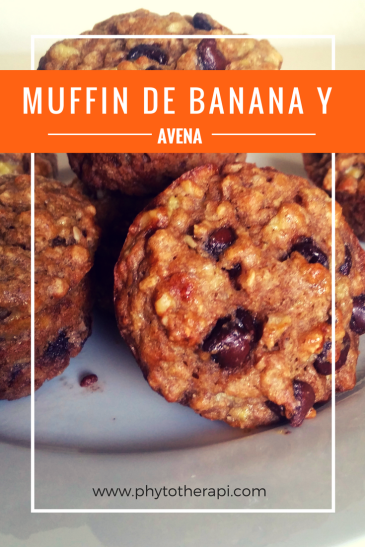 Banana oat muffins-SPANISH