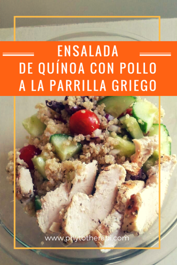 SPANISH Greek grilled Chicken and Quinoa Salad