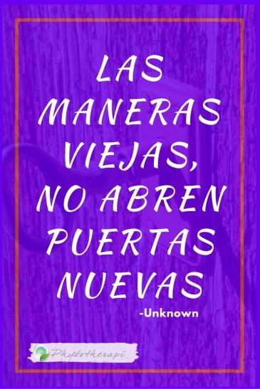 Old ways won't open- Spanish