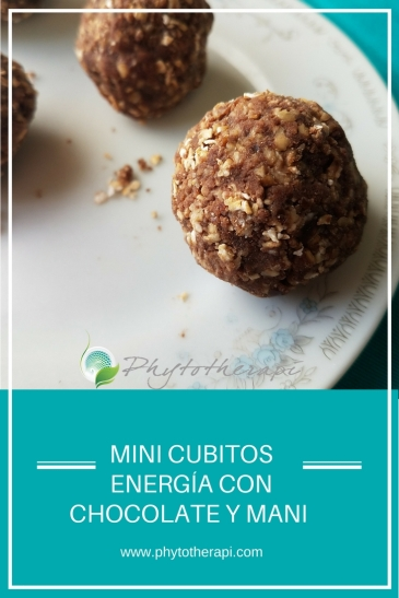 Peanut Butter Chocolate Energy Bites-Spanish