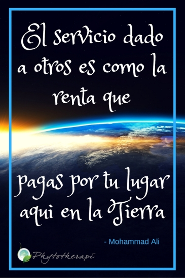 Service to others is the rent you pay- Spanish