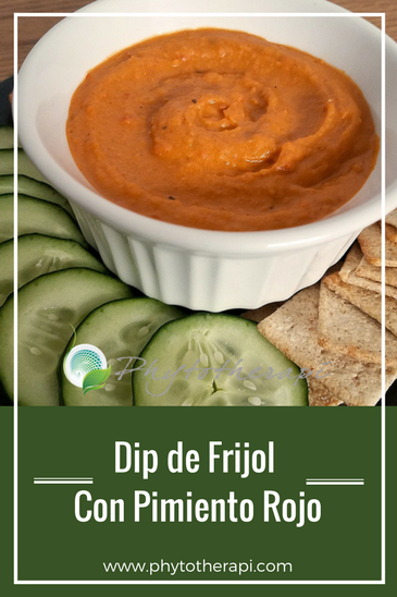 Spicy Red Pepper Bean Dip-Spanish